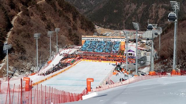 Il stadion a l'arrivada da Jeongseon.