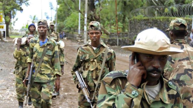 Kongolesische Rebellen in der Stadt Goma