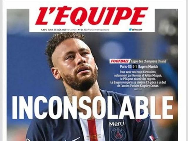 Neymar zierte am Montag das Titelbild der L'Équipe.