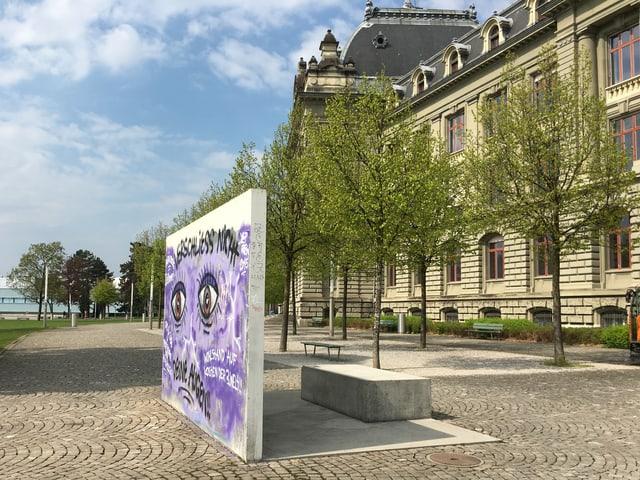 Die Skulptur «Der vierte Ort» von Heinz Brand.