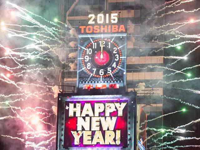 Feuerwerk auf dem Times Square.