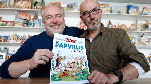 Der Zeichner Didier Conrad mit dem Texter Jean-Yves Ferri