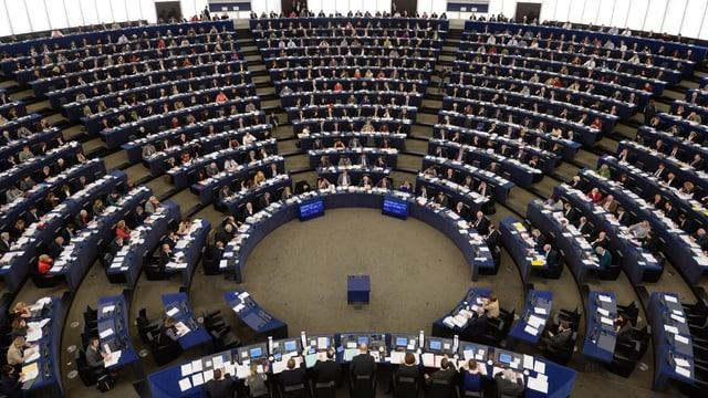 Das vollbesetzte EU-Parlament in Strassburg (Archivaufnahme)