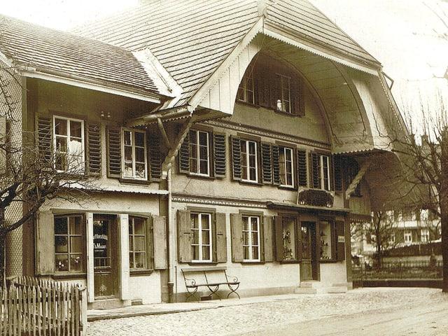 Historisches Bild mit Bäckerei