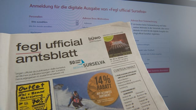 Il «Fegl ufficial Surselva» datti uss era digital.