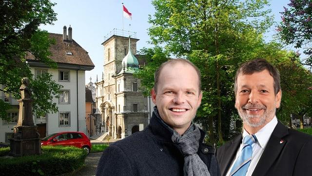 Direktor der Solothurner Handelskammer, Daniel Probst, und Finanzdirektor, Roland Heim