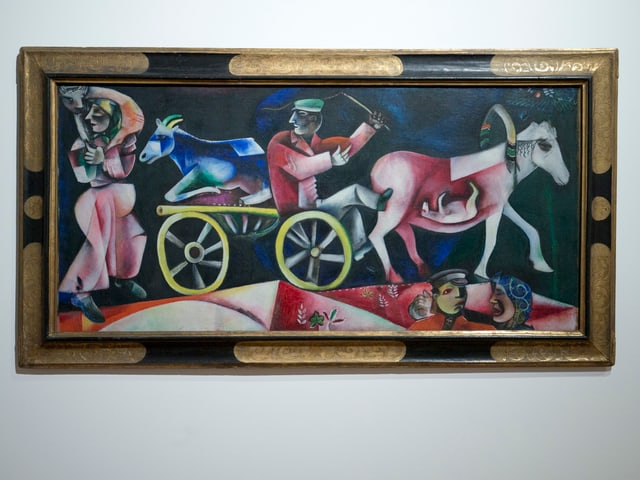 «Der Viehhändler» von Marc Chagall, entstanden 1912.