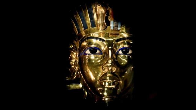 Die goldene Maske des Tutanchamun.