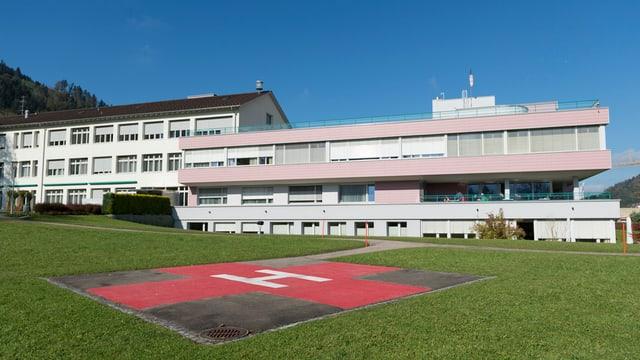 Das Spital Wattwil, aufgenommen am 24. Oktober 2014, in Wattwil.