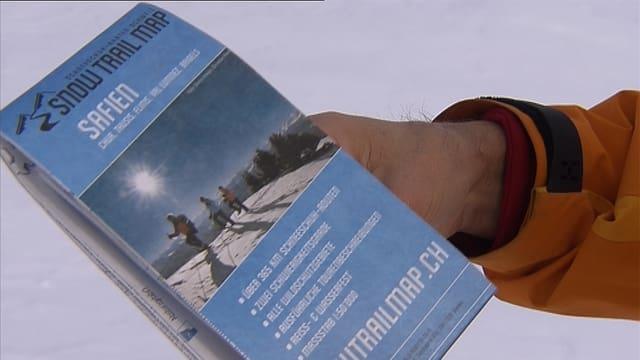 Gefährliche Schneewanderkarte