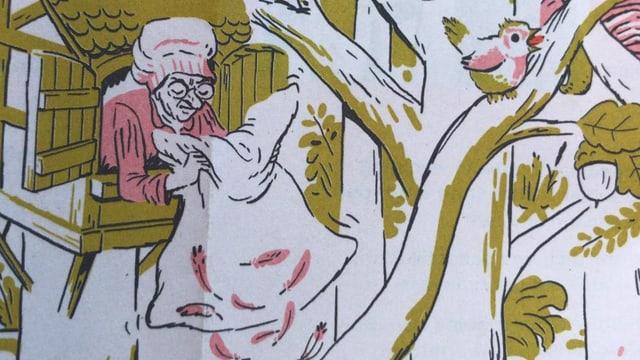 Trudi Gerster gezeichnet auf dem Kulturstadtplan