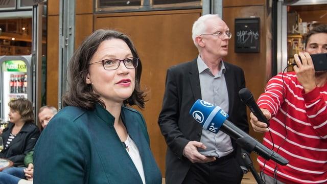 SPD-Chefin Andrea Nahles sucht mit der Forderung nach neuen Verhandlungen im Fall Maassen den Befreiungsschlag.
