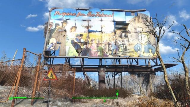 Ein Plakat macht Werbung für Bunker: Prepare for the Future!