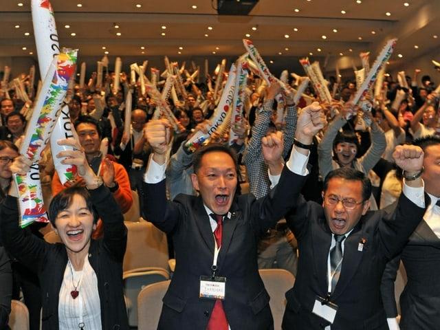 Tokio erhält am 7. September 2013 den Zuschlag für die Spiele.