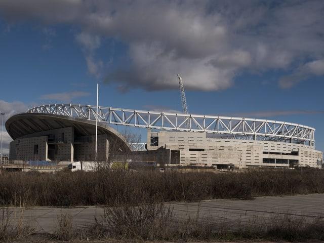 Fussballstadion.
