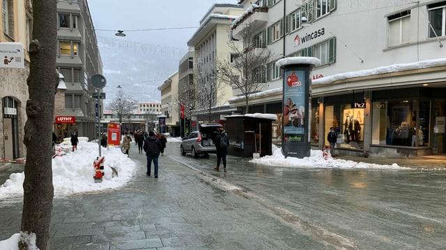 Bahnhofstrasse in Chur.