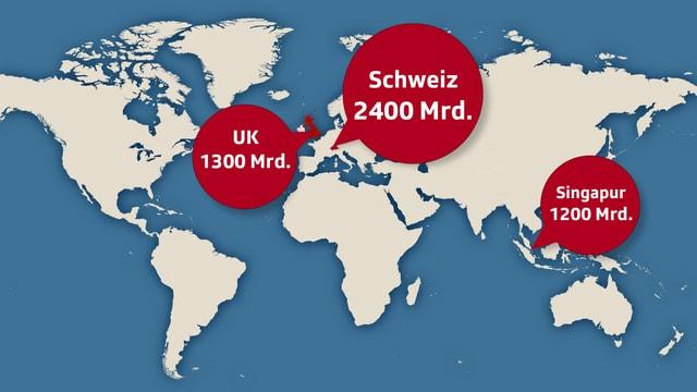 Die Schweiz ist mit 2,4 Billionen ausländischem Geld nach wie vor der grösste Offshore-Finanzplatz der Welt.
