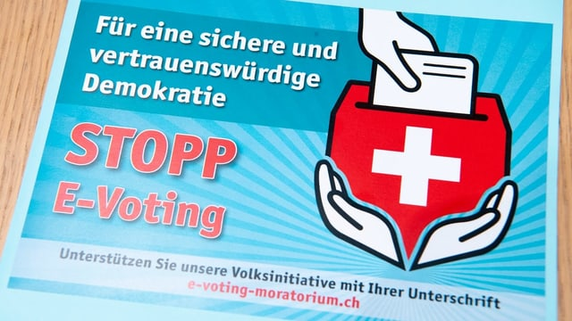 Logo der Initiative Stopp E-Voting