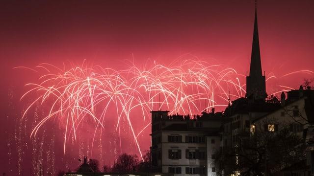 Feuerwerk in Zürich