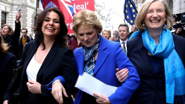 Die EU-freundlichen Politikerinnen Heidi Allen, Anna Soubry und Sarah Wollaston.