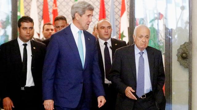 John Kerry und Nabil Elaraby