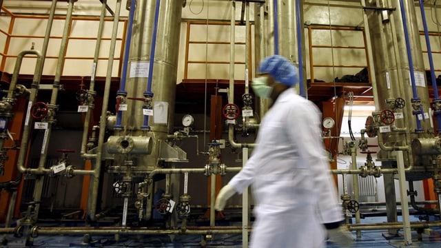 Blick in eine iranische Atomanlage.
