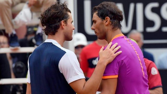 Thiem nach dem Sieg gegen Nadal in Rom.