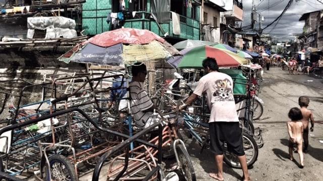 Aufnahme aus einem philippinischen Slum.