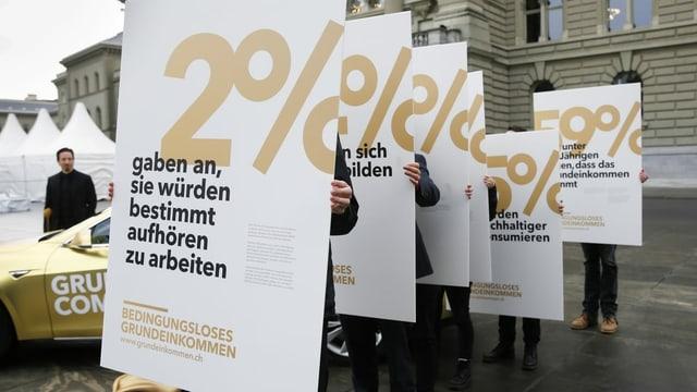 Plakat mit Umfrageerbegnissen.