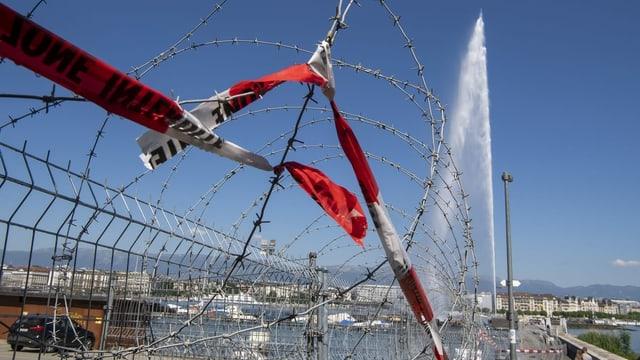 Massive Sicherheitsvorkehrungen am Genfer Seebecken.