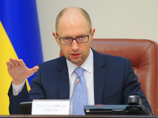 Regierungschef Arseni Jazenjuk