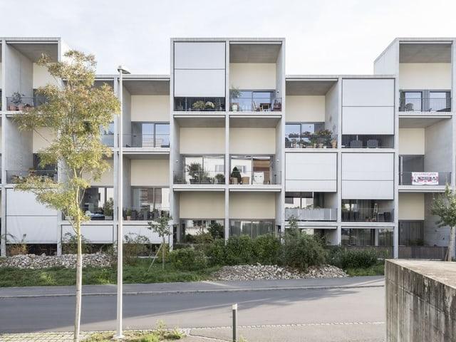 Ein modernes Wohnhaus