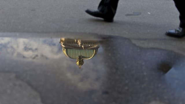 Reflektion des Bundeshauses