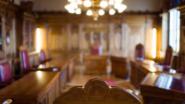 leeres Bundesratszimmer