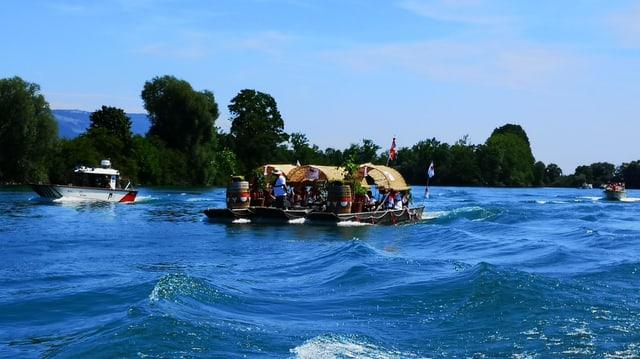 Boot auf einem Fluss.