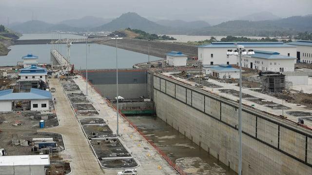 Trockene Schleuse des Panamakanals.