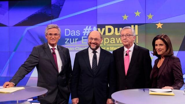 Junker und Schulz im TV-Duell