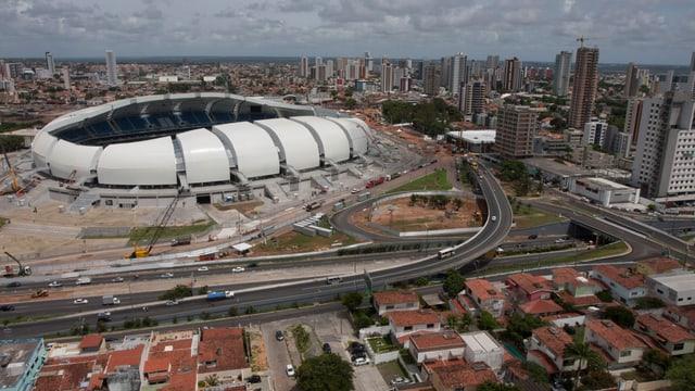 Stadion Estadio das Dunas von Oben