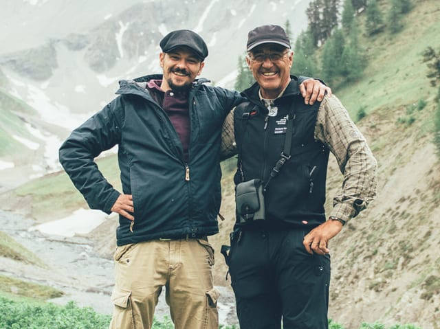 Patrick Stöpper und Domenic Godly im Schweizerischen Nationalpark