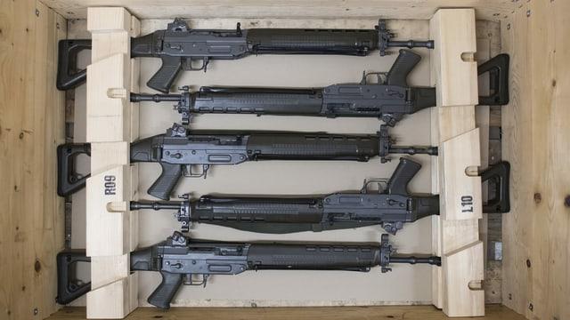 Armas pachetadas.