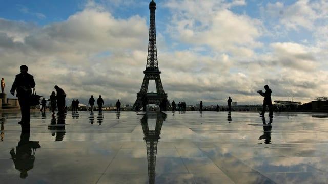 La tur Eiffel a Paris.