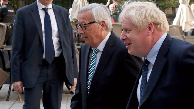 Jean-Claude Juncker trifft in Luxemburg Boris Johnson.