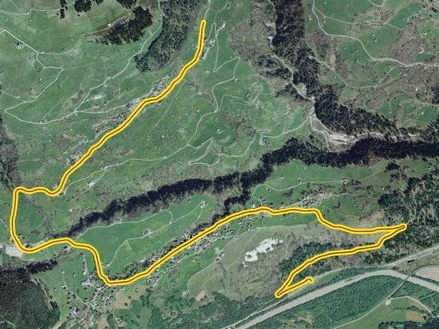 Via d'Andiast, access a la via sursilvana – Andiast.