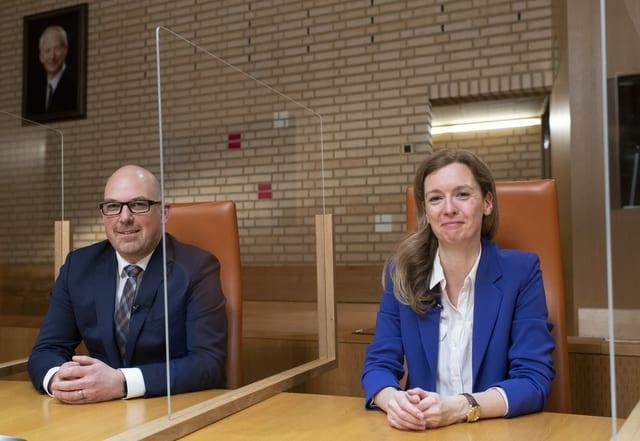 Daniel Risch (VU) und Sabine Monauni (FBP) aus Liechtenstein.