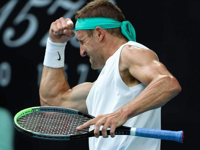 Federers Viertelfinal-Gegner - Tennys Sandgren, der unterklassierte Muskelmann