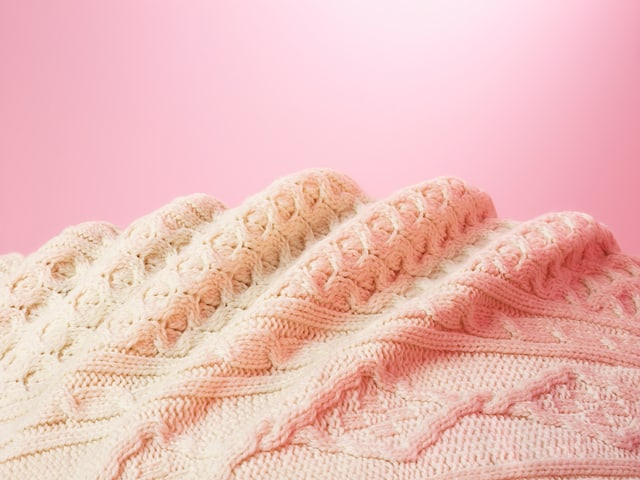 Aran sweater interpreted for Items: Is Fashion Modern? by Catherine Losing.