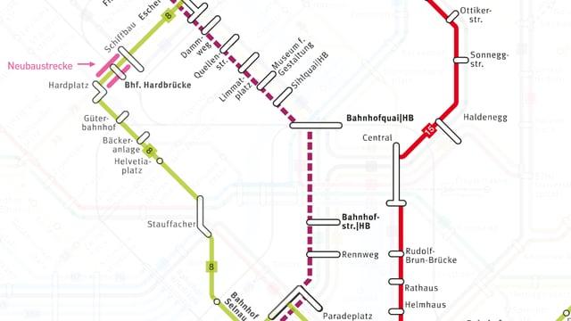 Neue Linien der Linien 8, 15 und 17.