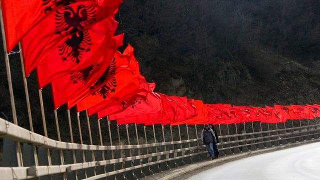 Bandieras dal Cosovo.
