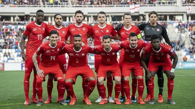 Ein Foto der Schweizer Fussball-Nationalmannschaft