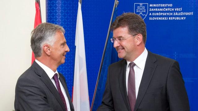 Dider Burkhalter und Miroslav Lajcak